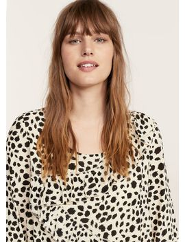 ruffled-feline-print-dress by mango