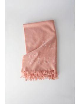 logo-scarf-bubblegum-pink by acne-studios