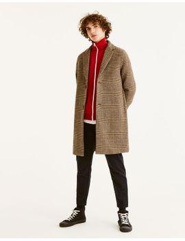 palton-din-stofă-în-carouri by pull-&-bear