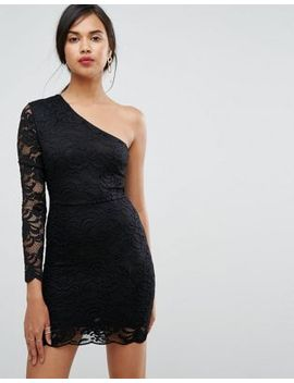 ivyrevel-one-shoulder-lace-bodycon-mini-dress by ivyrevel