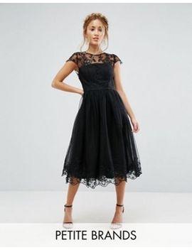 chi-chi-london-petite-premium-lace-midi-prom-dress-with-lace-neck by chi-chi-london-petite
