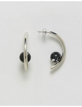whistles-curve-stone-earring by whistles