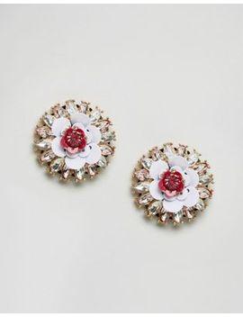 aldo-nydeiniel-floral-stud-statement-embellished-earrings by aldo