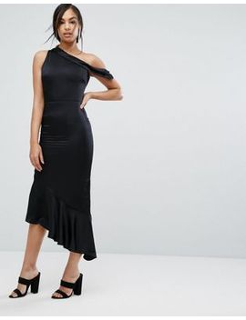 lavish-alice-satin-one-shoulder-asymmetric-hem-dress by lavish-alice