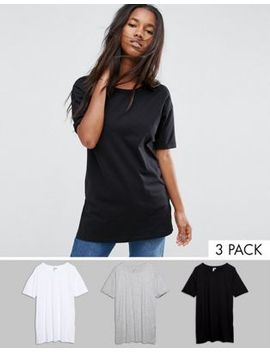 asos-ultimate-easy-boyfriend-t-shirt-3-pack-save-20% by asos-collection