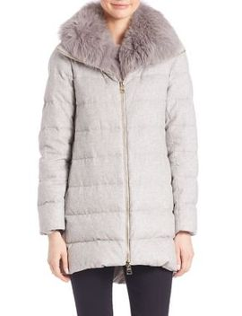 fox-fur-trim-silk-&-cashmere-puffer-coat by herno