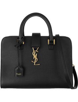 monogram-cabas-new-small-tote-black-calfskin-leather-shoulder-bag by tradesy