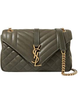 --monogram-quilted-army-green-leather-shoulder-bag by saint-laurent