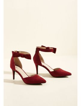 flawless-footfalls-mid-heel-in-deep-red by modcloth