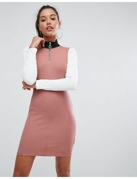 asos-color-block-track-dress by asos-collection