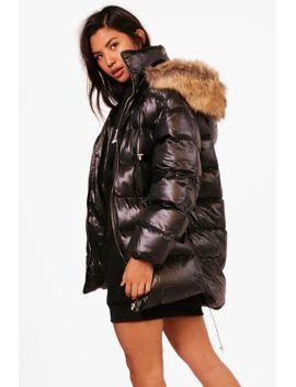 high-shine-longline-padded-coat by boohoo