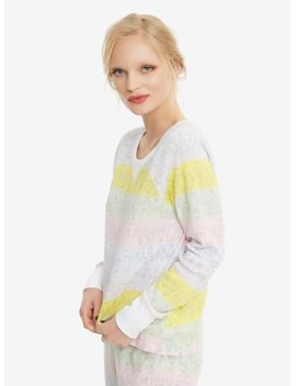 bobs-burgers-striped-girls-thermal-sleep-set by hot-topic