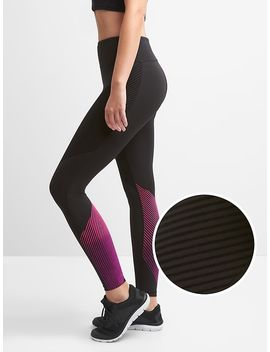 gapfit-textured-stripe-leggings-in-sculpt-compression by gap