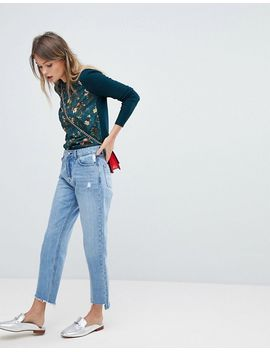 oasis-floral-knitted-sweater by oasis