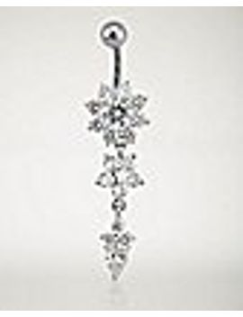 cz-flower-dangle-belly-ring---14-gauge by spencers