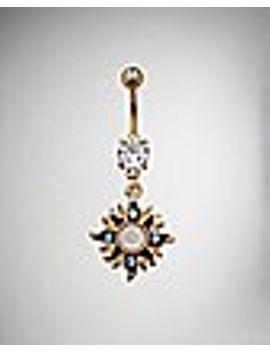 opal-effect-sun-dangle-belly-ring---14-gauge by spencers