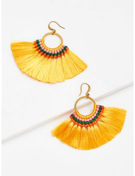 tassel-hoop-statement-earrings by sheinside