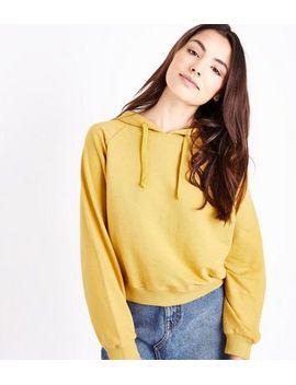 mustard-raglan-sleeve-hoodie by new-look