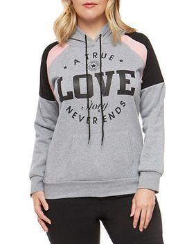 plus-size-color-block-graphic-sweatshirt by rainbow