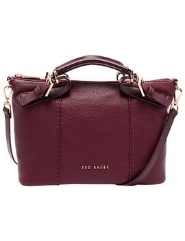 ted-baker-salbett-pop-hand-leather-small-tote-bag,-oxblood by ted-baker