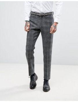 asos-–-schmal-geschnittene-anzughose-aus-kariertem-harris-tweed,-100%-wolle by asos