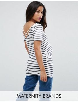new-look-maternity-stripe-cross-back-t-shirt by new-look-maternity