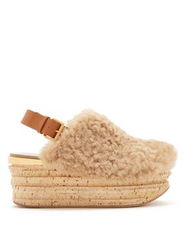 camilla-shearling-wedge-sandals by chloé