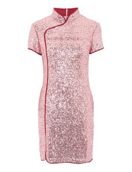 **high-neck-sequin-dress-by-glamorous-tall by topshop