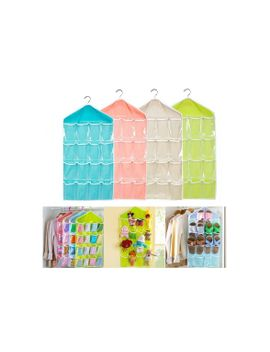 new-16-pockets-clear-hanging-bag-socks-bra-underwear-rack-hanger-storage-organizer--wholesale by wish