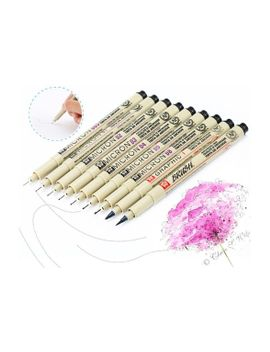 9pcs-pigma-manga-comic-pro-graphic-markers-drawing-fine-point-ink-pens-brush-kit by wish