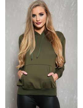 sexy-olive-casual-pullover-hoodie-sweater by ami-clubwear