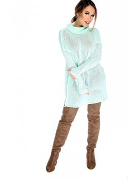 sexy-seafoam-knit-cowl-neck-casual-sweater-top by ami-clubwear