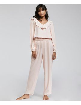 solid-colored-shirt-with-ruffle-trim by oysho