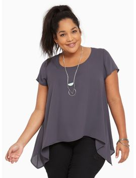 georgette-sharkbite-blouse by torrid