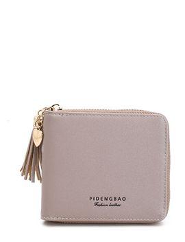 tassel-decorated-zip-around-pu-purse by romwe