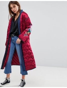 glamorous-premium-wrap-jacket-in-quilted-satin-with-floral-embroidery by glamorous