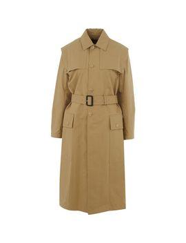 dusty-yellow-trench-coat by joseph