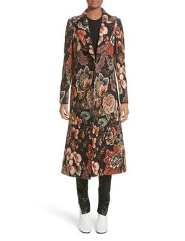 floral-tapestry-long-coat by stella-mccartney