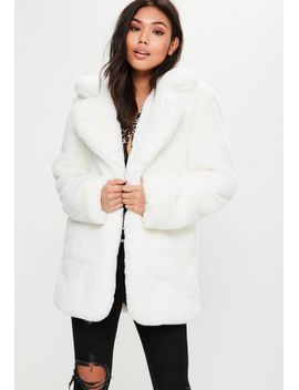 white-faux-fur-coat by missguided