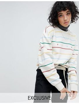 puma-exclusive-to-asos-long-sleeve-striped-dream-sweatshirt-in-white by puma