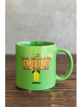 smiling-is-my-favorite-elf-mug by francescas