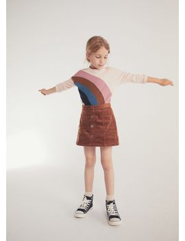 buttoned-corduroy-skirt by mango