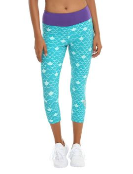 disney-the-little-mermaid-ariel-scale-girls-active-capris by hot-topic