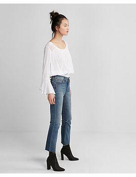 smocked-hem-bell-sleeve-blouse by express