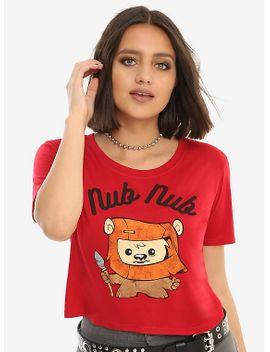 star-wars-nub-nub-girls-crop-t-shirt by hot-topic