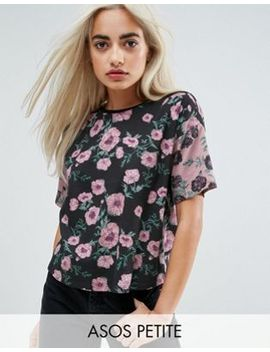 asos-petite-t-shirt-with-cutabout-floral by asos-petite
