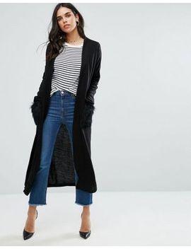 zibi-london-longline-cardigan-with-faux-fur-trim by cardigan