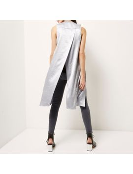 silver-satin-split-back-duster-jacket -------------- ------------------silver-satin-split-back-duster-jacket by river-island