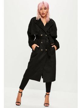 black-brushed-trench-coat by missguided