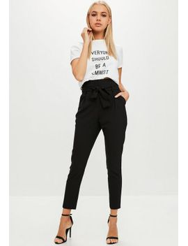 black-high-waisted-cigarette-pants by missguided
